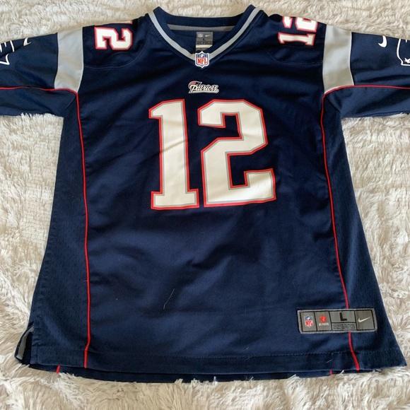 buy online 47b52 8f1ee Tom Brady New England Patriots youth jersey